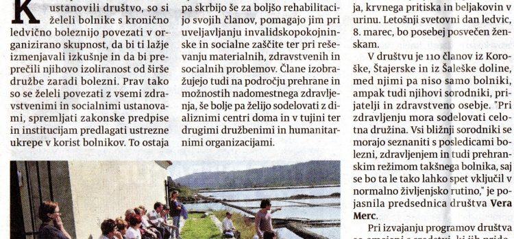 Članek Večer – 40 letnica DLB Slovenj Gradec